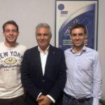 Il neo Presidente Giuseppe Raciti con i suoi figli, Stefano e Francesco